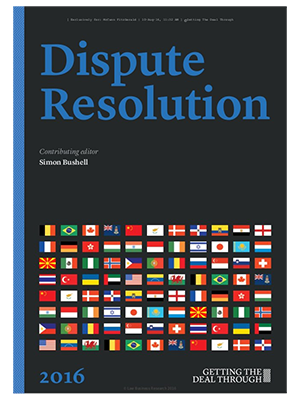 "Joram Moyal ""Dispute Resolutions in Luxembourg"" 2016"