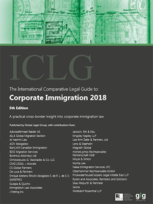 """Joram Moyal, """"Corporate Immigration 2018 │ Luxembourg"""", ICLG, 2018."""